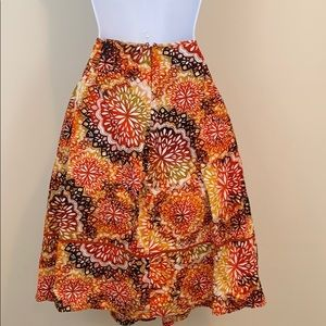 east 5th Printed Cotton Below the Knee Full Skirt